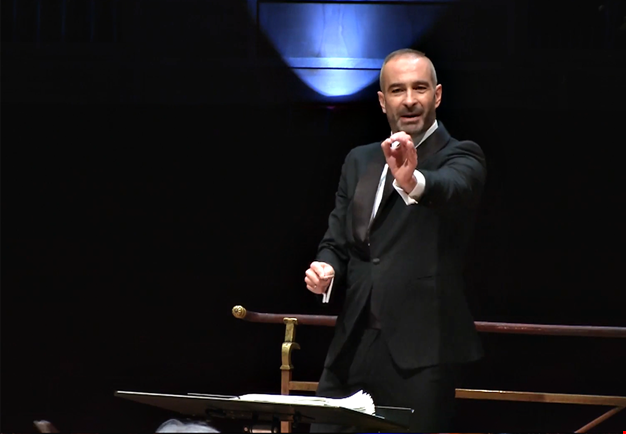 Man conducting. From the concert