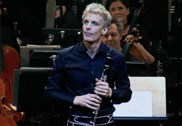 Man with a clarinet. From the concert.