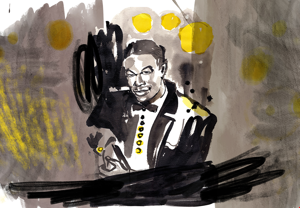 Illustration av Nat King Cole