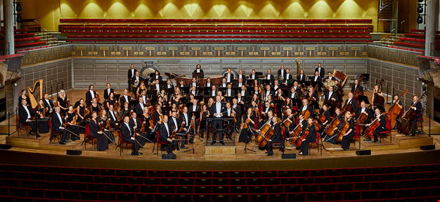The orchestra on stage. Photo.