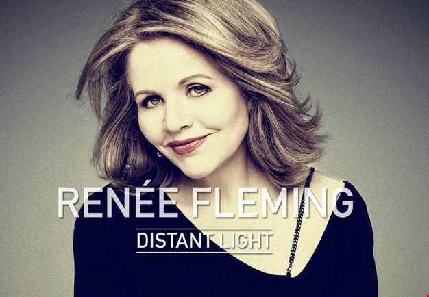 CD album cover with a close up of the soprano Renée Fleming. Photography.
